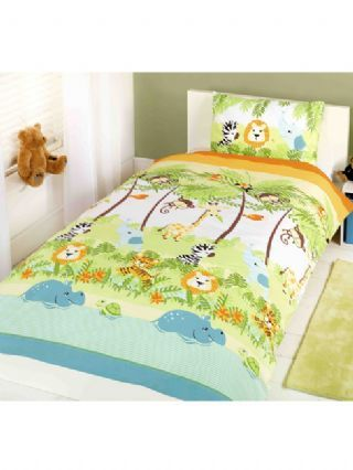 Jungle Boogie Animals Junior Duvet Cover and Pillowcase Set - Bedding - Bedroom