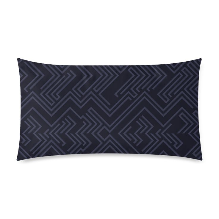 "Luxury designers pillow for Bedroom : black with Stripes Custom Rectangle Pillow Cases 20""x36"" (one side)."