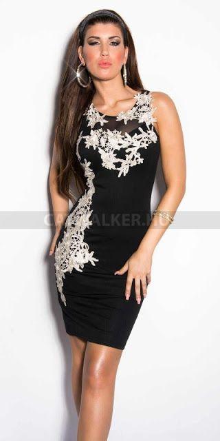 Alkalmi ruha: Alkalmi ruha, horgolt dísszel - fekete