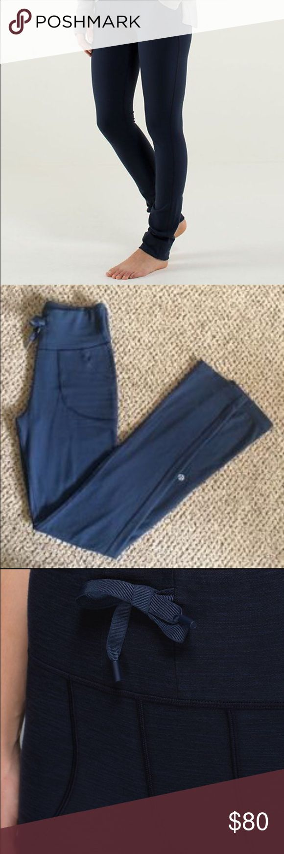 Lululemon skinny will pant, size 2 - navy Like new, very flattering fit. High wasted skinny pant, perfect for gym or causal. lululemon athletica Pants Leggings