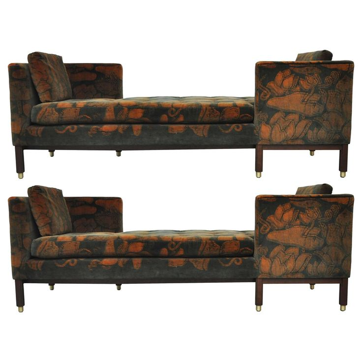 Dunbar Tete-a-tete Sofas by Edward Wormley | From a unique collection of antique and modern sofas at https://www.1stdibs.com/furniture/seating/sofas/