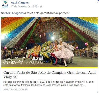 ACONTECE: Azul Viagens entra no clima do São João da Paraíba...