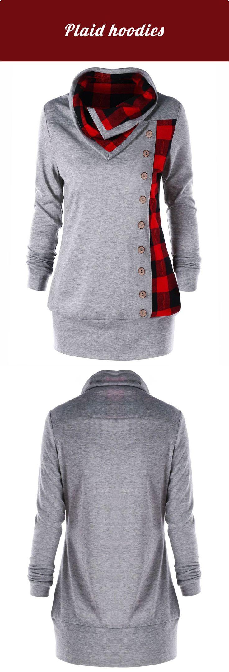 $11.11,Plus Size Plaid Cowl Neck Sweatshirt - Heather Gray 3Xl | Rosewholesale,rosewholesale.com,rosewholesale clothes,rosewholesale.com clothing,rosewholesale plus size,rosewholesale plus size tops,rosewholesale dress plus size,plus size hoodies and sweatshirts,plaid hoodies,plus size,tops,blouses,hoodies | #rosewholesale #hoodies  #plussize #tops