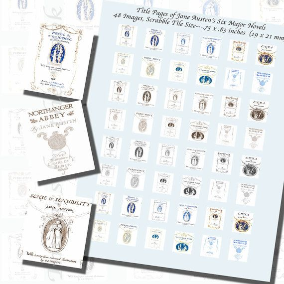 Jane Austen's Title Pages Printables SCRABBLE by imagesbythebook
