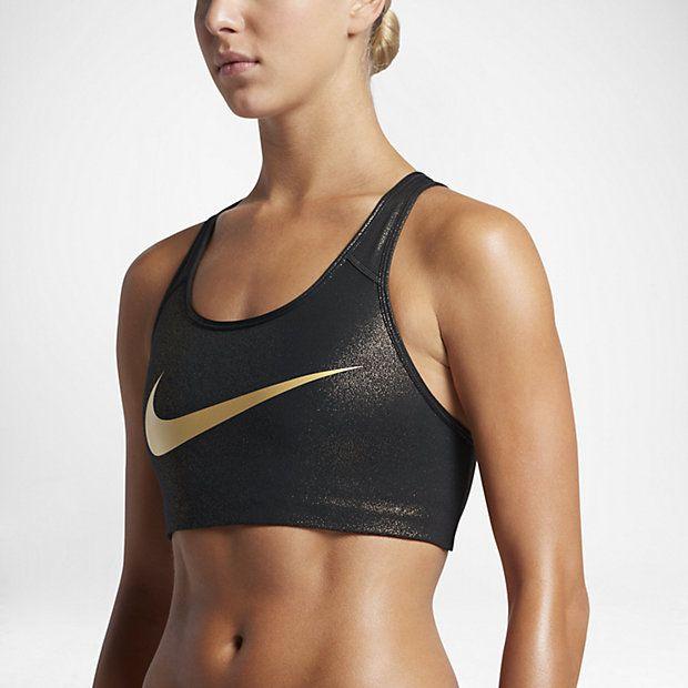 Nike Pro Classic Swoosh Women's Medium Support Sports Bra Size M (Black) -  Clearance Sale