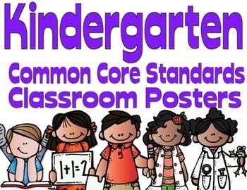 Common Core Kindergarten Posters (I can...) Melonheadz Edition