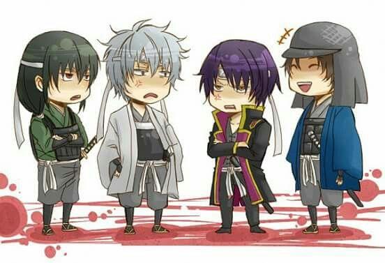 Gintama, Joy4, Gintoki, Takasugi Shinsuke, Katsura Kotarou, Sakamoto Tatsuma, chibi