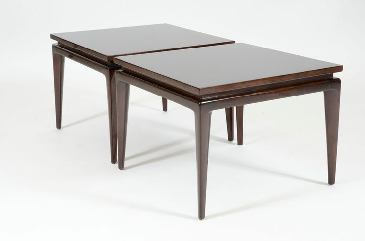 Pair of Knife Edge Leg Lamp Tables by Erwin-Lambeth   From a unique collection of antique and modern side tables at http://www.1stdibs.com/furniture/tables/side-tables/