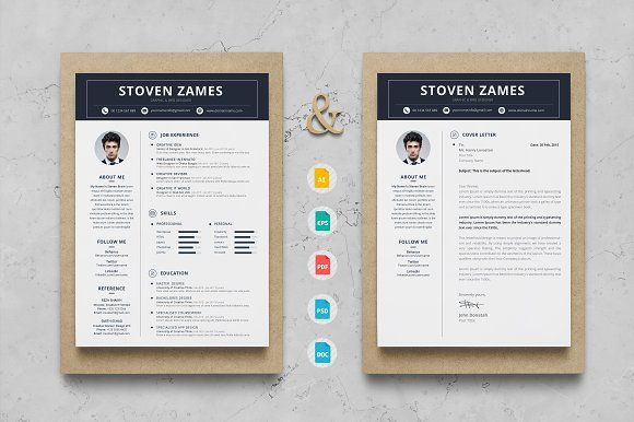 Clean Resume & Cover Latter Word Template. Elegant page designs are easy to use and customize, so you can quickly tailor-make your resume for any opportunity and help you to get your job.