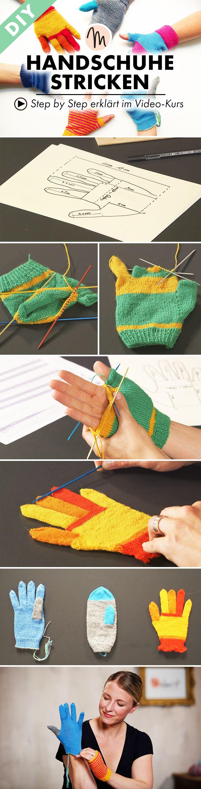 Stricke deine Handschuhe so wie du sie brauchst - Step by Step erklärt im Video-Kurs auf Makerist.de