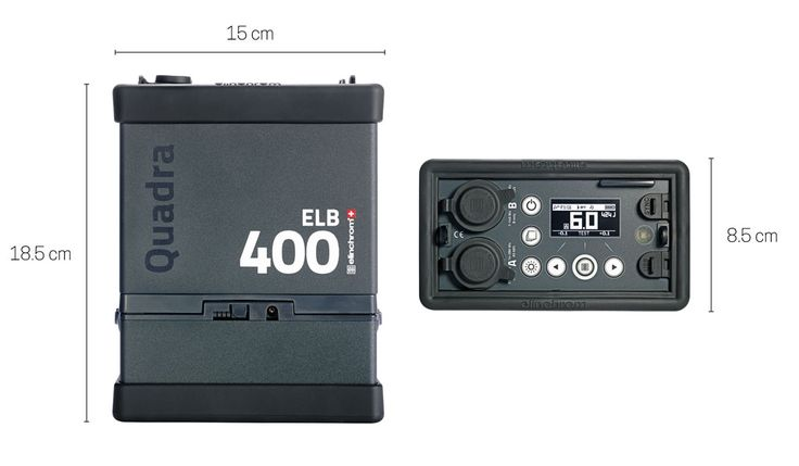 ELINCHROM - Products - ELB 400 Dimensions