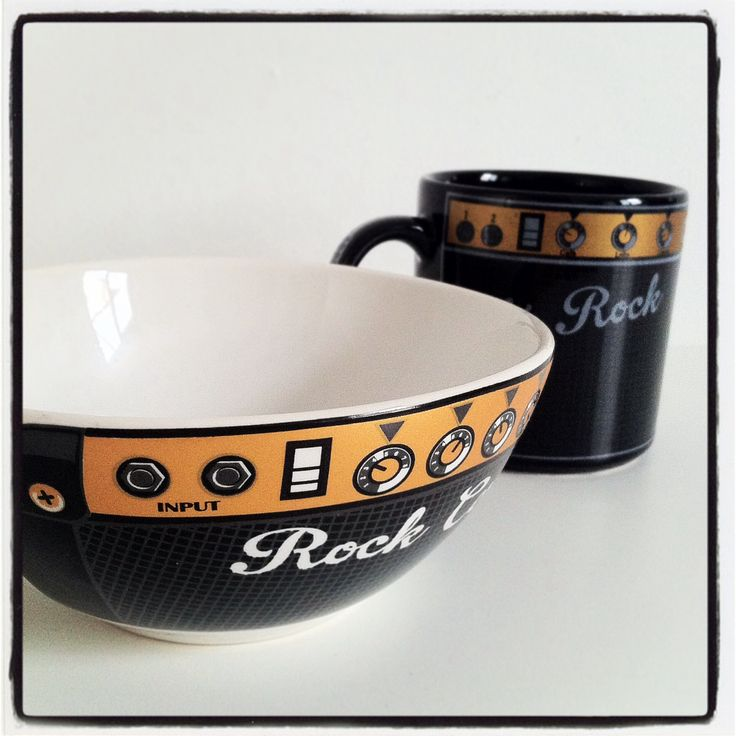 Caneca e bowl Rock N Roll!!!