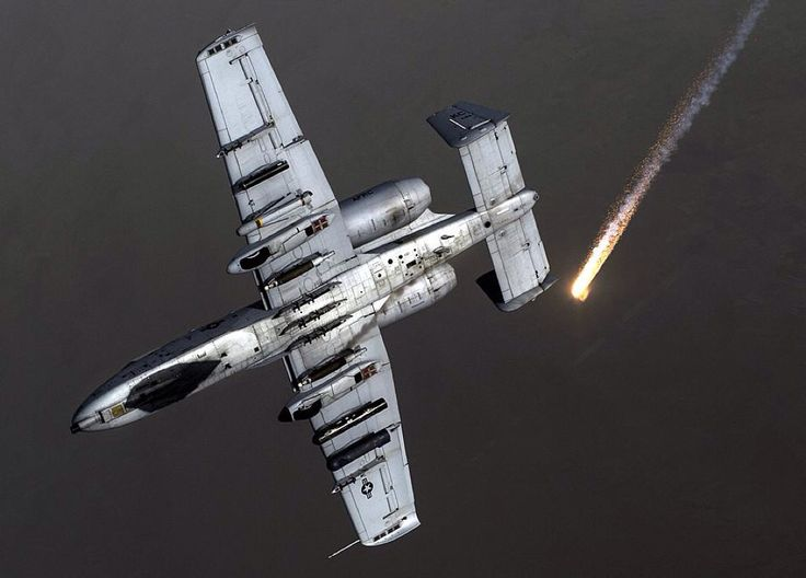 US Air Force A-10 Thunderbolt II with the 303rd Expeditionary Fighter Squadron peels away after being in-air refueled.