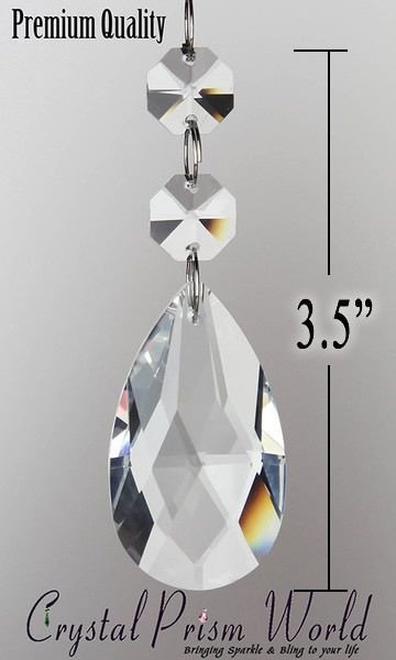 50PCK Replacement Chandelier Lamp Double Crystals Hanging Prisms Parts New | eBay