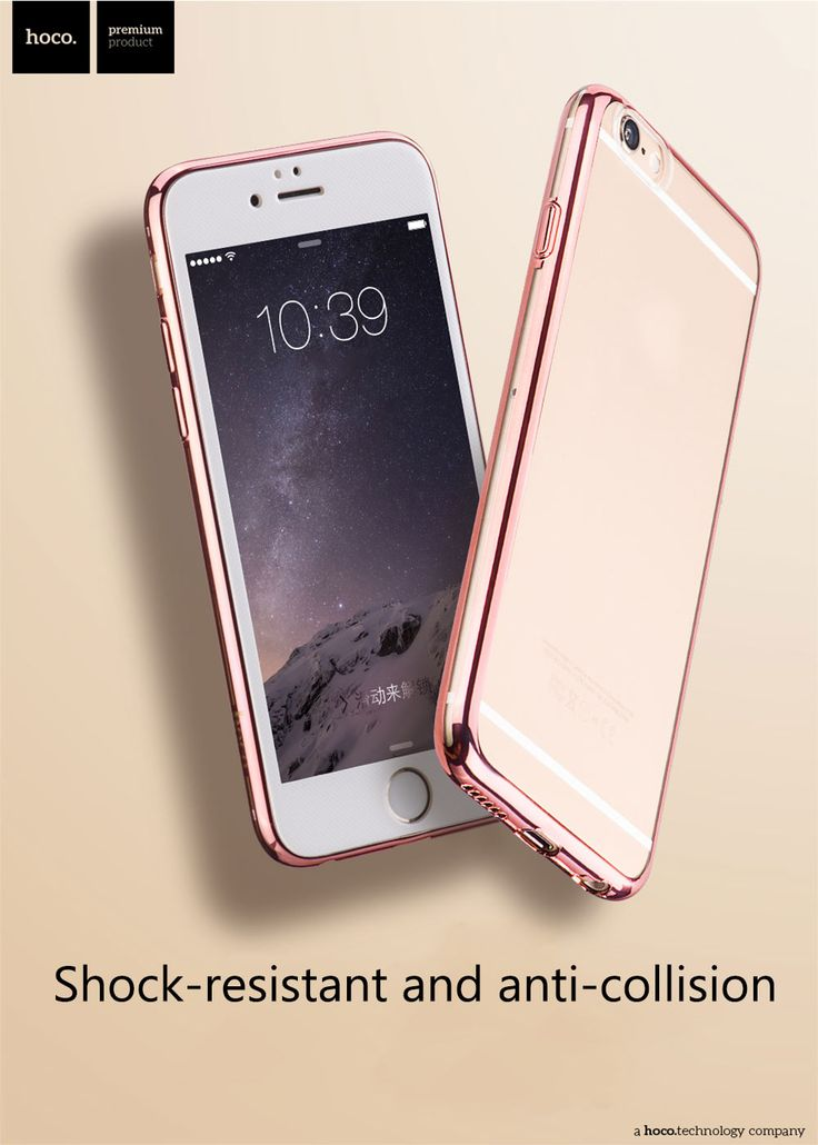 Hoco Ultra Thin Transparent TPU Cover Case for iPhone 6 6S - TARNISH