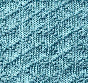 ściegi na drutach - diamenty