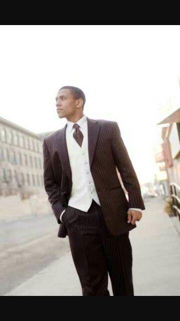 Black suit white vest