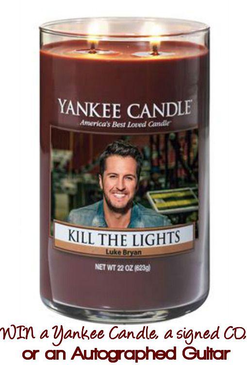 "Yankee Candle Luke Bryan ""Kill the Lights"" Sweepstakes"