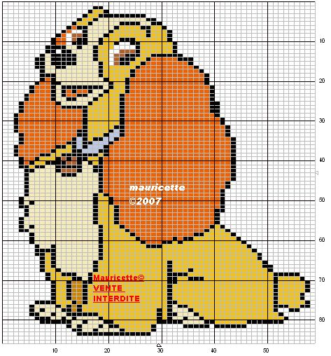Lady and the Tramp hama perler beads pattern by Mauricette
