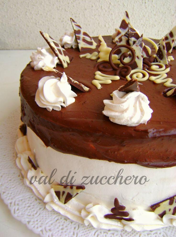 ganache and chocolate cake