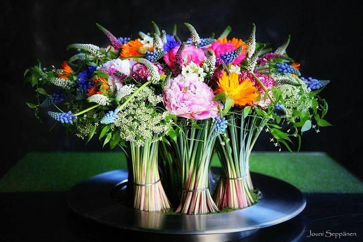 Beargrass met bloemen, goed idee