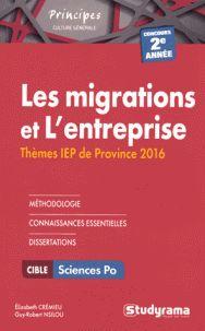 Elizabeth Crémieu et Guy-Robert Nsilou - Les migrations et L'entreprise - Thèmes IEP (2e année).