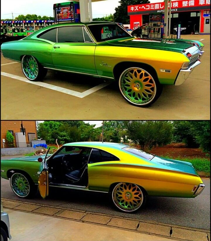 Chameleon 68 Impala Sitting On 26 S Muscle Cars