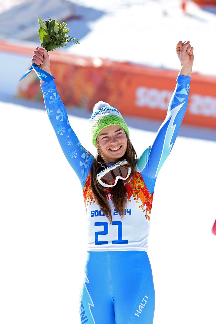 Tina Maze, gold medal <3 #Sochi2014 (A. Fevžer)