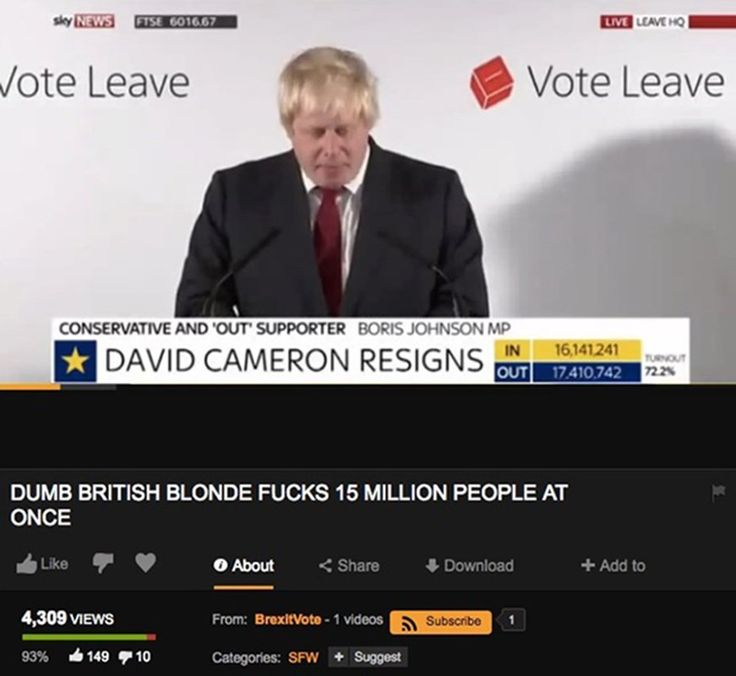 Boris Johnson's Brexit speech has turned up on Pornhub With an appropriate but totally NSFW title