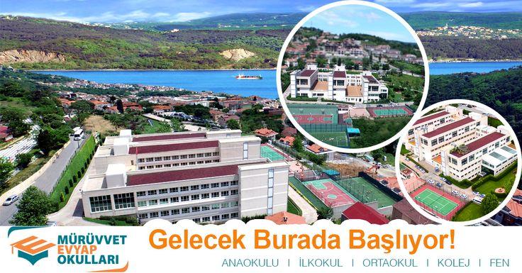 Özel Mürüvvet Evyap Okulları, Sarıyer'de 24.000 m2 alan üzerinde, şehrin gürültüsünden ve karmaşasından uzak güvenilir bir ortamda, Türkiye'nin en iyi üniversitelerinden mezun tecrübeli ve uzman eğitim kadrosuyla, okul öncesi, ilköğretim ve lise bölümlerinden oluşan bir dev eğitim-öğretim tesisiyle en iyi olmayı amaçlamaktadır.