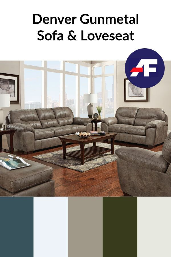 This Week We Are Introducing Our New Denver Gunmetal Collection This Beautiful Set Features A Cool In 2020 Sofa And Loveseat Set Love Seat American Freight Furniture