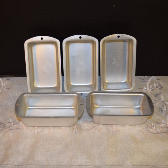Mini Baking Pans 5 Individual Loaf Pans by ShellysSelectSalvage