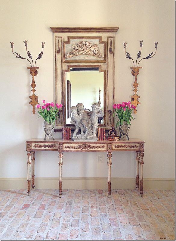 Foyer Table Vignettes : A little bit french vignette in arkansas home