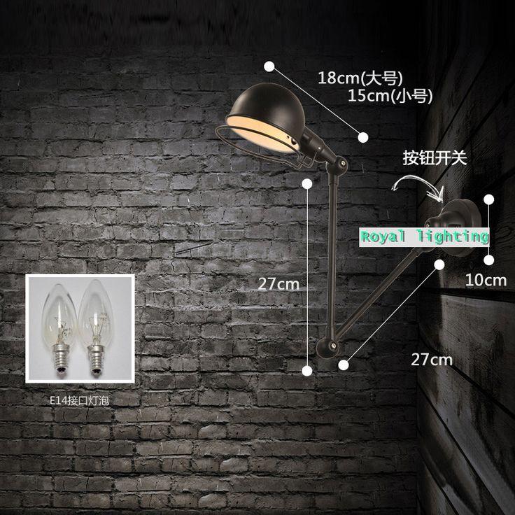 Aliexpress.com : Acquista Creativo robot braccio lampada da parete a led parete di roccia della novità di illuminazione nuovo arrivo ajustable riparo della parete camera da letto comodino luce abajur da Fornitori lampadina a forma di lampada affidabili su Royal lighting international Company