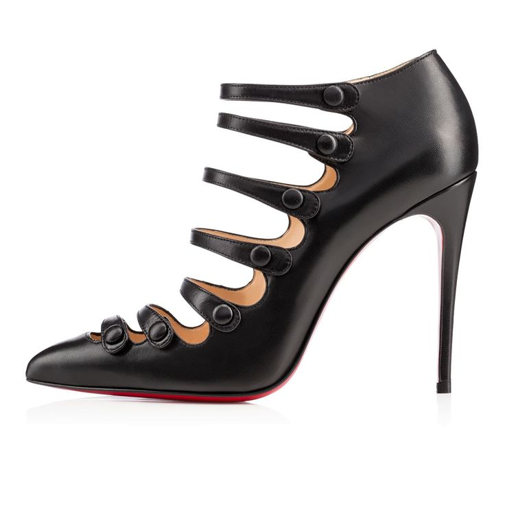Viennana 100mm Black Leather. Black KidsBlack LeatherCabaretChristian  LouboutinZapatos