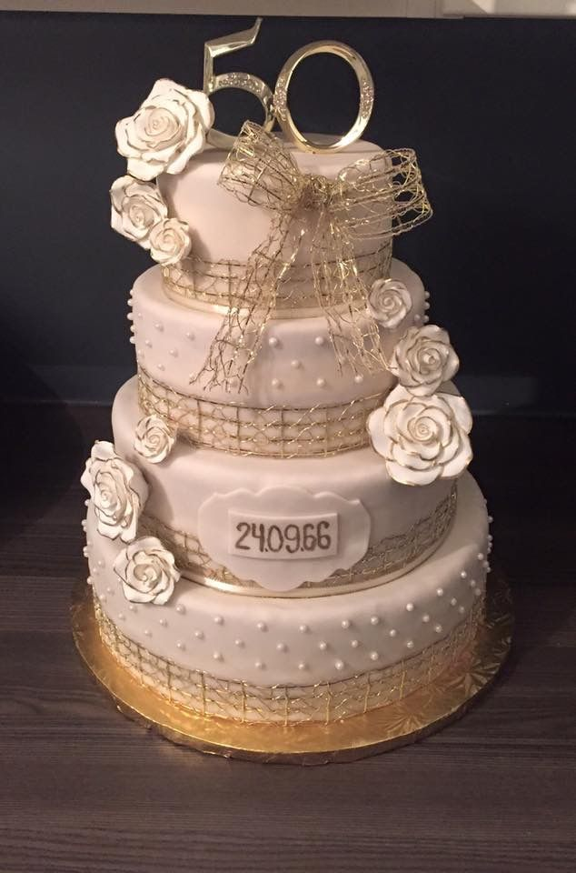 G teau 50e anniversaire de mariage g teaux fondants for 50e anniversaire de mariage