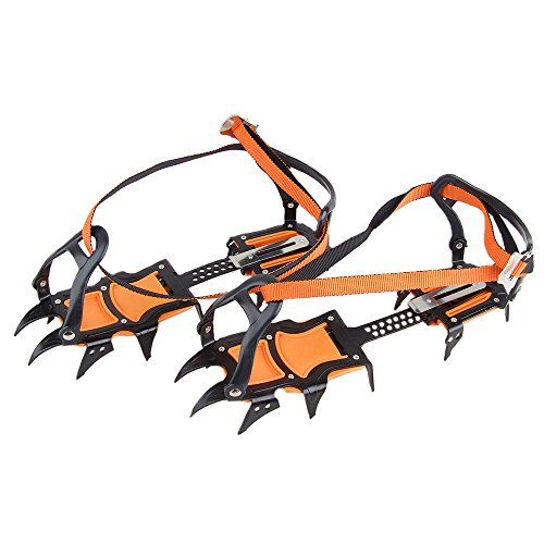 HYOUT Crampons Non-slip Shoes Cover for Outdoor Ski Ice Snow Hiking Climbing ( set of 2 )
