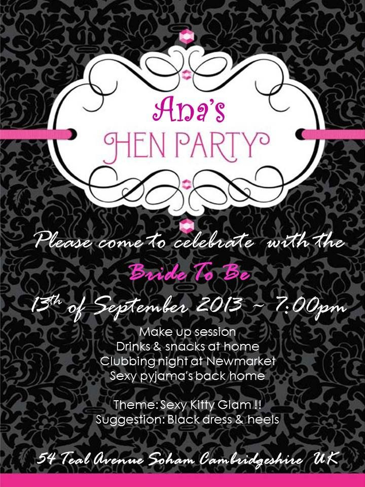 20 best Hen Party Invitations images on Pinterest Bachelorette - bachelorette invitation template