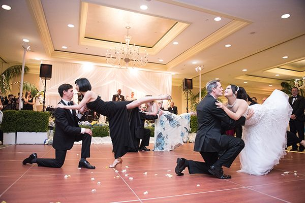 If both parents are present at your wedding, why just dance with one of them? Ask both parents to participate in a group dance, or skip the sentimental swaying altogether and have your bridal party join you on the floor to get the party started sooner.