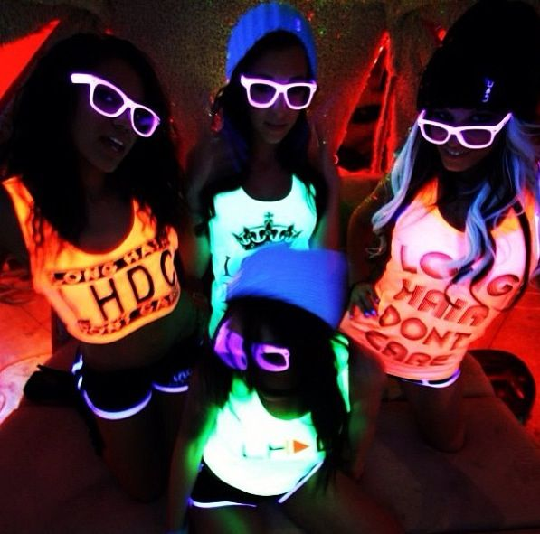 It's a black light party! www.LHDC.com
