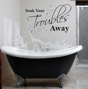 Buy Free Shipping Soak Quote Lettering Words Vinyl Wall Decal Sticker Decal Bathroom 5 Colours U-pick WS044 on Aliexpress.com