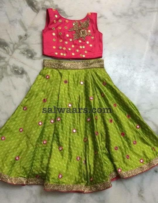 Small Mirrors Kids Lehenga - Indian Dresses