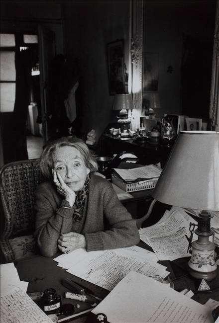 Marguerite Duras, écrivain, Prix Goncourt. Paris 1993
