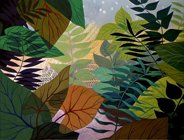 mary blair http://animationbackgrounds.blogspot.com/2007/11/alice-in-wonderland-autumn-leaves.html