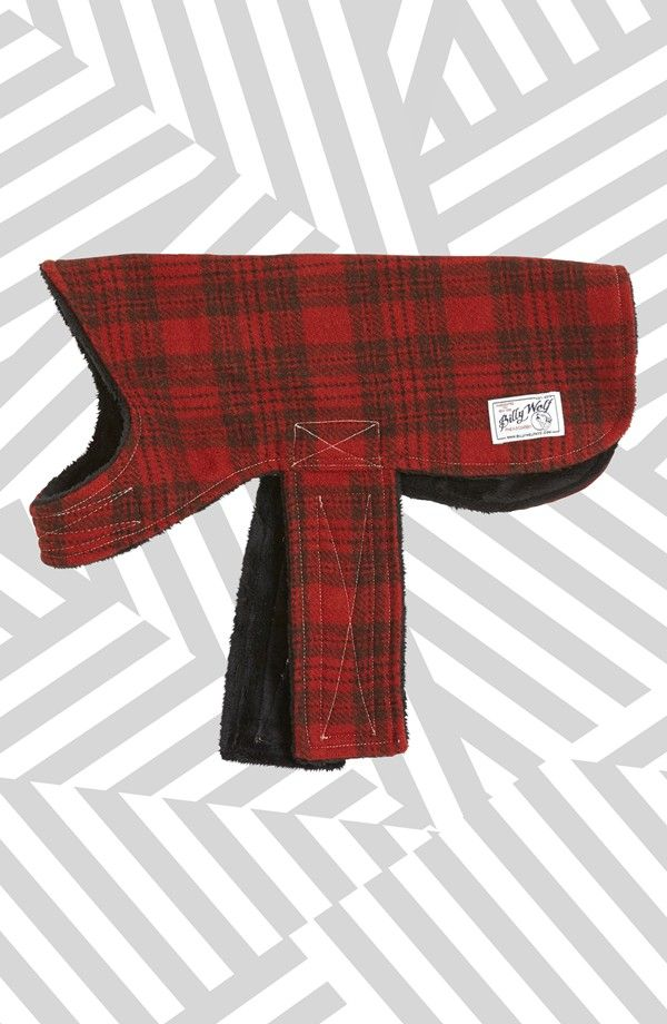 Such a great gift for your pooch   Lined Wool Dog Coat.