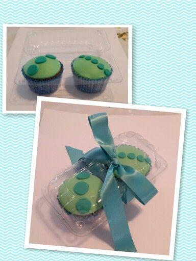Cupcakes decorados con mazapán :)