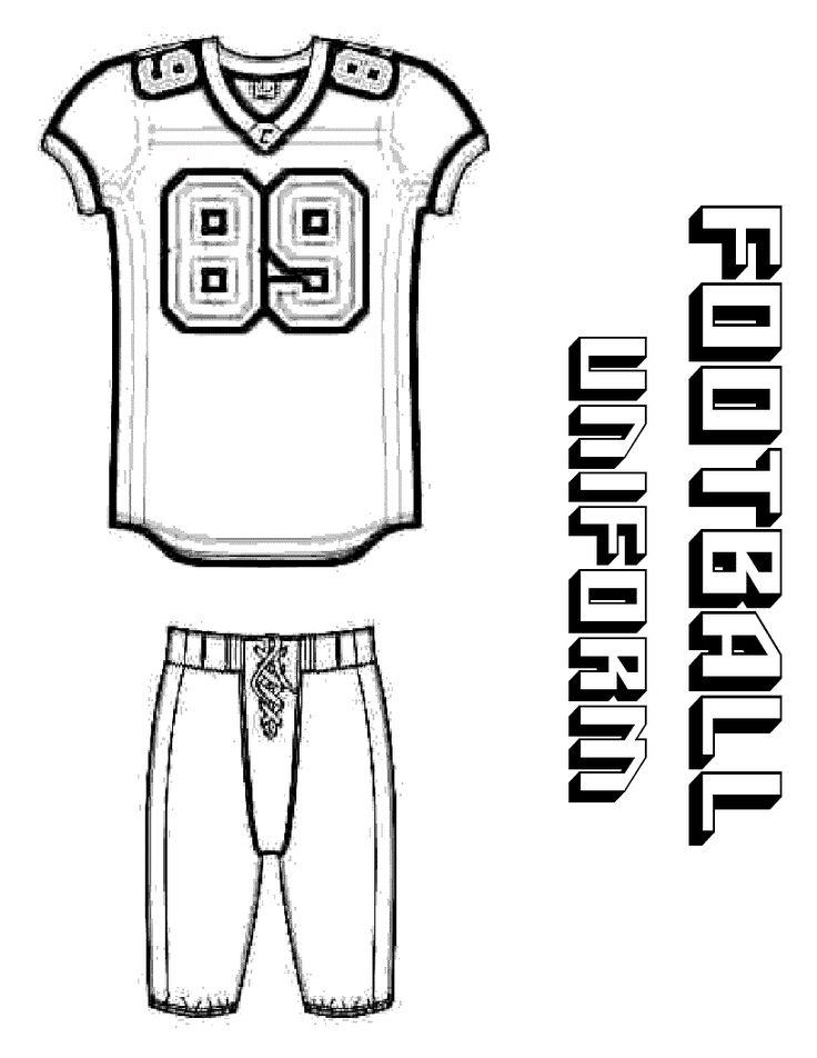 football player template printable