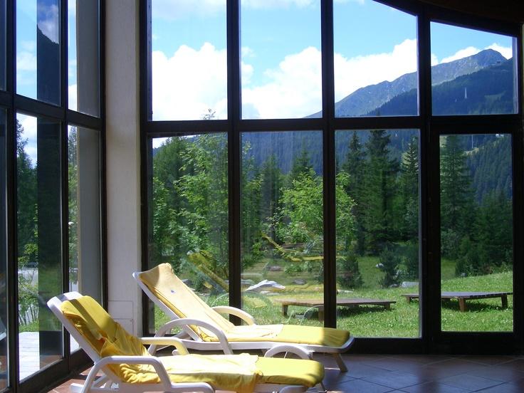 The view from our swimmingpool in the summer - La vista dalla finestra del ResidenceHotel Ambiez a Madonna di Campiglio nelle Dolomiti  http://www.residencehotel.it/strutture/residence-hotel-ambiez-madonna-di-campiglio