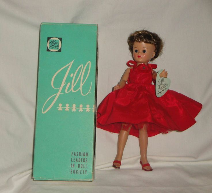 Vogue Jill w/Tagged Dress #7511, Wrist Tag, and Box, 1957