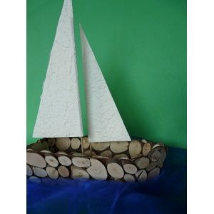 Schiff basteln aus Holz  eine interessante ...